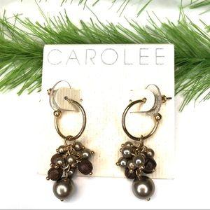 Carolee accessories dangle hoop earrings